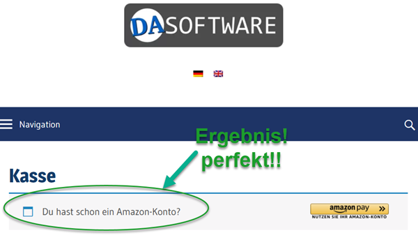 Screenshot WordPress Amazon Pay Plugin ins Deutsche übersetzt